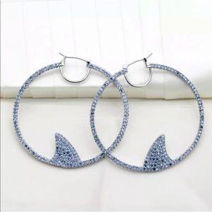 $78 New Kate Spade California Shark Hoop Earring